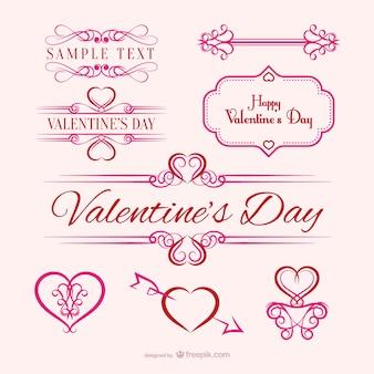 Carino messaggio di amore calligrafico scaricare vettori - Decorazione san valentino ...