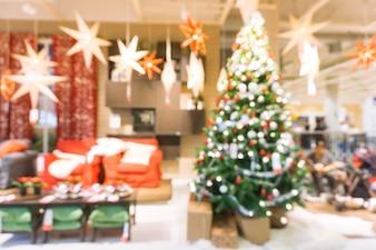 Defocused scena di Natale