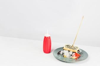 Delizioso panino e ketchup