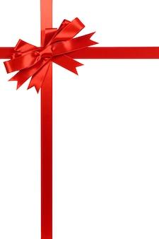 Di Natale rosso fiocco regalo e del nastro