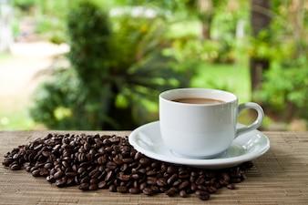Di semi di servizio di porcellana ripiene di semi di caffè