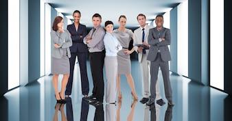 Dirigenti camera collegamento corporativo corridoio