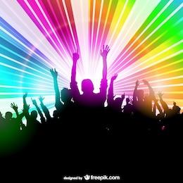 Disegno persone di partito discoteca luce