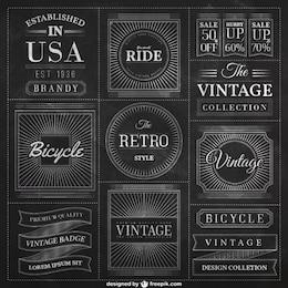 Distintivi lavagna in stile vintage