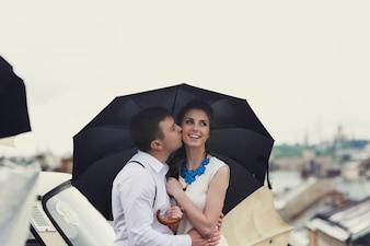 Donne romanticismo risalenti coppia di adulti