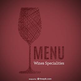 Doodle di vini specialità menù arte