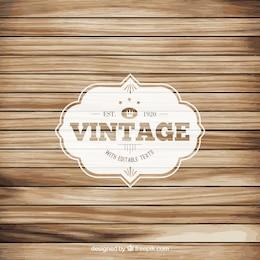 Etichetta Vintage sul pavimento di legno