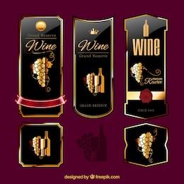 Etichette di vini eleganti