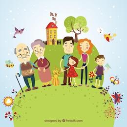 Famiglia felice illustrazione