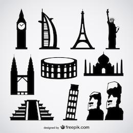 famoso vettore di edifici estera