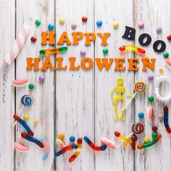 Felice Halloween e scheletro