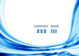 Figura blu astratta
