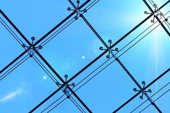 Finestra dell'ufficio trasmissione della luce in metallo