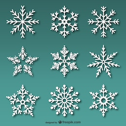 Fiocchi di neve bianchi confezione