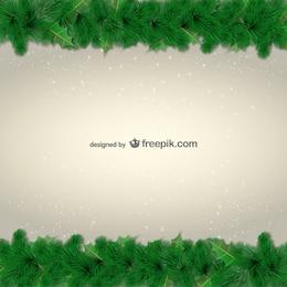 Foglie verdi confini per il Natale