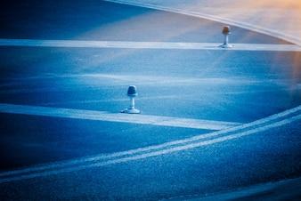 Foto di sfondo stradale di asfalto