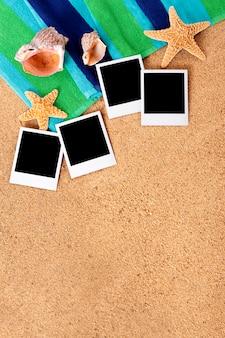 Foto istantanee sulla spiaggia