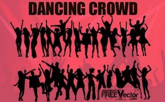 Free Vector folla danzante