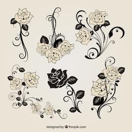 free vector rose decorazione