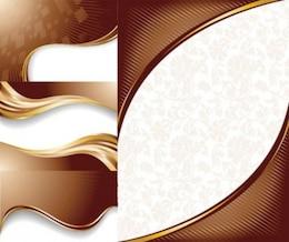 Free vettore cioccolato dinamica linee luce di sfondo bianco marrone intelligente semplice onda