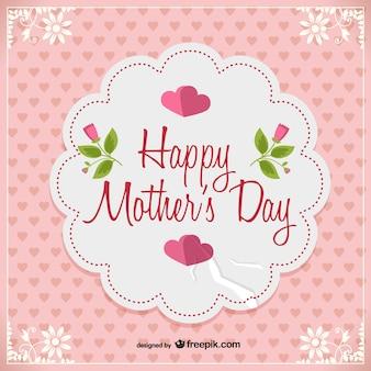 Giorno vettoriale cartolina libero della madre
