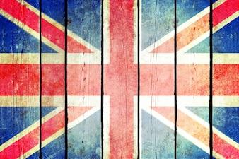 Grande bandiera grunge in legno britannico.