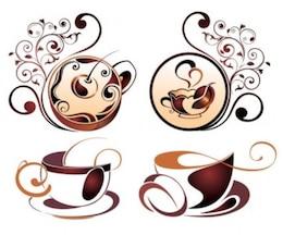 Gratuito coppa pareggio linea inchiostro bruno arte bella bella bella misc caffè vettoriale elemento