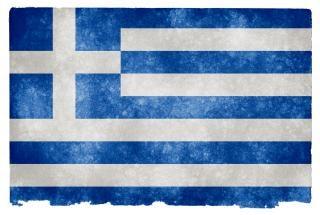Grecia bandiera grunge pergamena