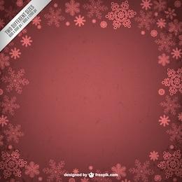 Grunge cornice invernale con fiocchi di neve