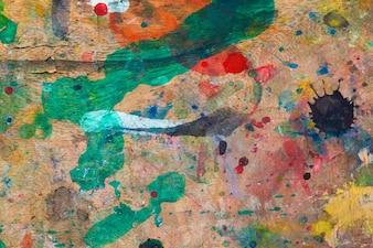 Grunge vernice sullo sfondo di legno