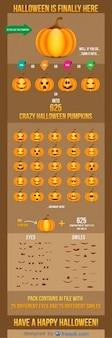Halloween zucche sorrisi e occhi