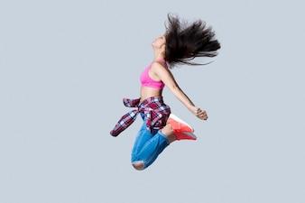 Hip-hop ballerino che salta