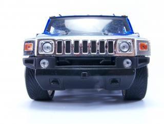 Hummer giocattolo blu, alto consumo