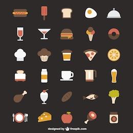 Icone alimentari colorate