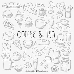 Icone alimentari Sketchy