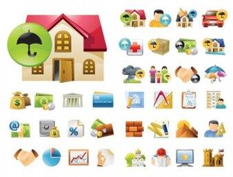 Icone colorate set
