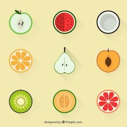 Icone di frutta estiva