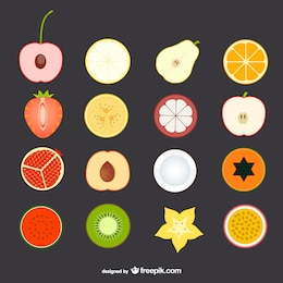 Icone di frutta set