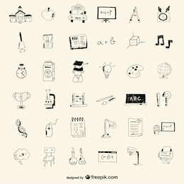 Icone di scuola di disegno di stile