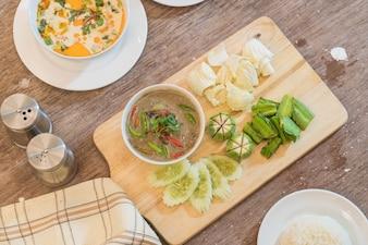 Il cibo tradizionale thai tradizionale