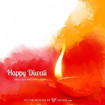 Illustrazione Deepawali con fiamme