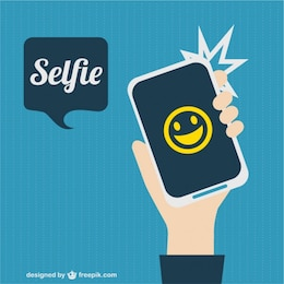 Immagine immagine selfie vettore