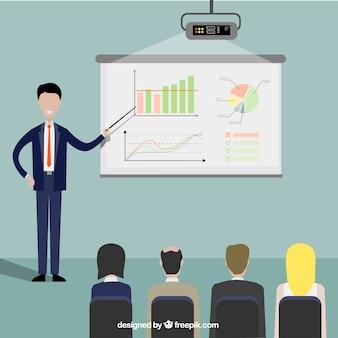 Imprenditore in una presentazione