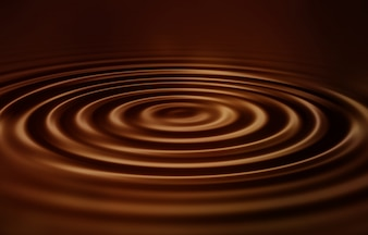 Increspature di cioccolato liscio vellutato