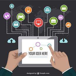 Internet marketing template vector