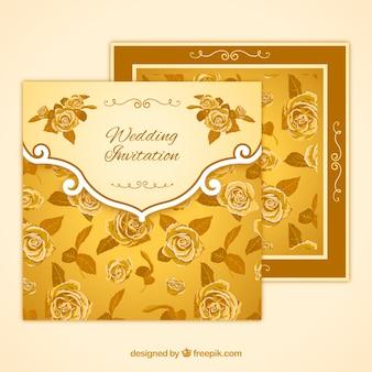 Invito per le nozze con rose