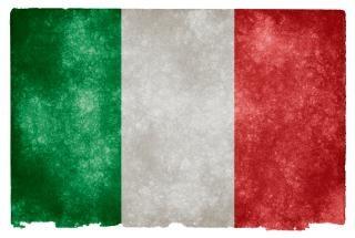 Italia grunge flag