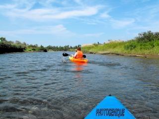 Kayak sul fiume estate
