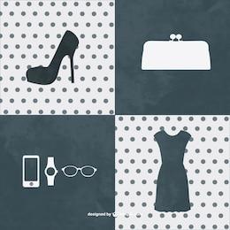 Kit di moda elementi grafici