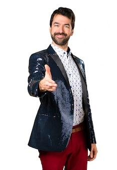 L'uomo con la giacca fare un affare